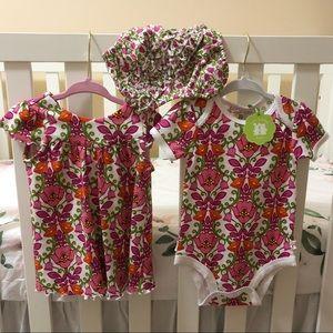 Vera Bradley baby onesie, dress and romper 3-6